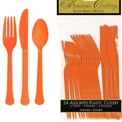 Orange Heavy Duty Cutlery Set for 8
