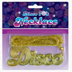 Gold Disco Necklace