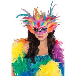 Rainbow Feather Mask