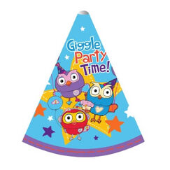Giggle And Hoot Party Hats - pk8
