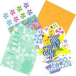 Bananas In Pyjamas Invitations Kit for 8