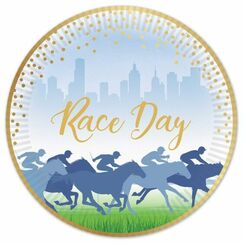 Large Race Day Plates - pk8