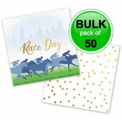 Small Race Day Napkins - Bulk pk50