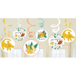 Lion King Hanging Swirls - pk12