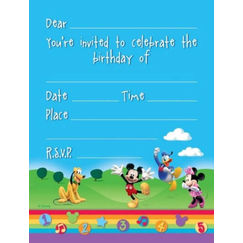 Mickey Mouse & Friends Invitations