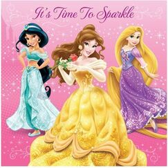 Disney Princess Sparkle Napkins - pk16