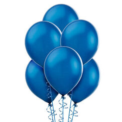 Royal Blue Pearl 30cm Balloons - pk15