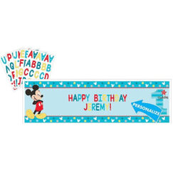 Mickey Mouse 1st Banner - Personalise It