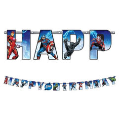 Avengers Birthday Banner Kit - Add An Age