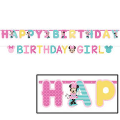 Minnie Mouse Birthday Letter Banners - pk2