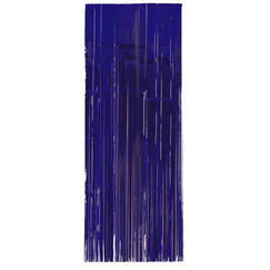 Metallic Blue Curtain