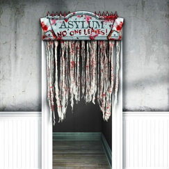 Keep Out Bloody Door Curtain