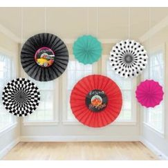 Classic 50s Hanging Fans - pk6