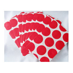 Red Polka Dot Paper Bags - pk10