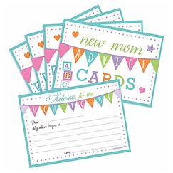 New Mom Advice Cards - pk24