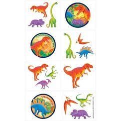 Prehistoric Dinosaurs Temporary Tattoos