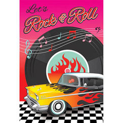 Classic 50s Rock & Roll Party Invitations Kit for 8