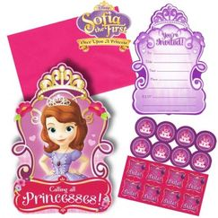 Sofia The First Party Invitations Kit for 8