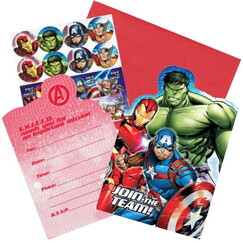 Epic Avengers Invitations Kit for 8