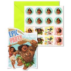 Moana Party Invitations Kit