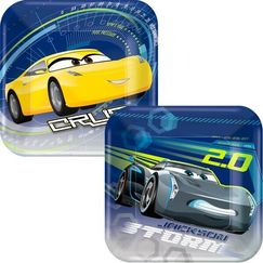Disney Cars 3 Snack Plates - pk8