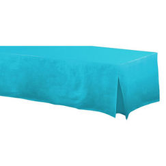 Re-usable Fitted Caribbean Blue Tablecloth