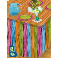 Multicolour Fringe Table Skirt