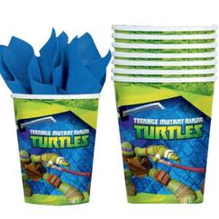 Teenage Mutant Ninja Turtles Cups - pk8