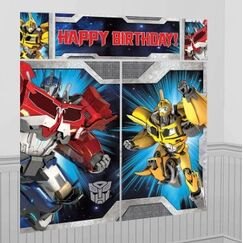 Transformers Birthday Wall Scene Setter Kit
