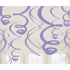 Hanging Purple Swirls - pk12
