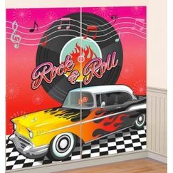 Classic 50s  Rock & Roll Wall Decorating Kit