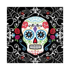Large Day Of The Dead Napkins - pk36