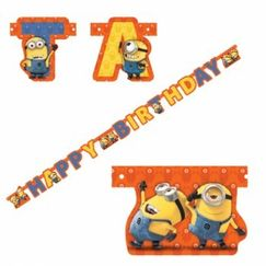 Minions & Despicable Me Birthday Banner
