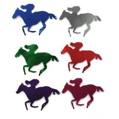 Coloured Horse & Jockey Cut-outs - Choose your size