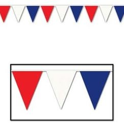 Jumbo Red White Blue Flag Banner - 36mtrs