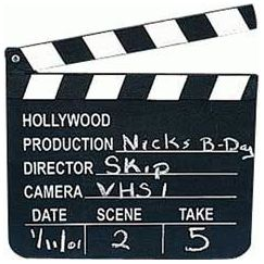 Movie Clapboard With Chalk