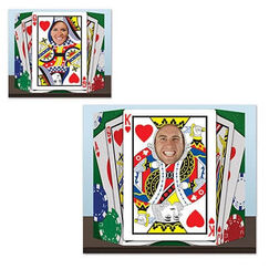 Double Sided Playing Cards Photo Op Prop Stand Up