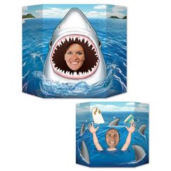Double Sided Shark Photo Op Prop Stand Up