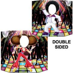 Double Sided Disco Couple Photo Op Prop Stand Up