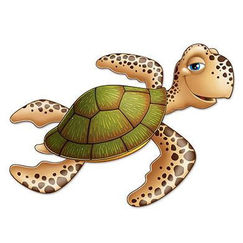 Jointed Sea Turtle Cut-out (91cm)