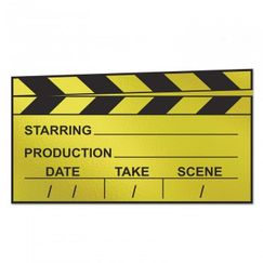 Black And Gold Cardboard Clapboard Cut-out