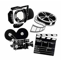 Movie Set Cut-outs - Pack of 4