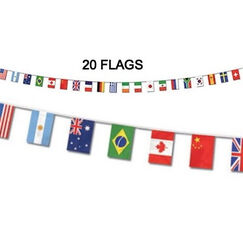 All Nations International Flags Banner