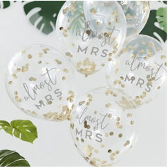 Almost MRS Confetti Balloons - pk5