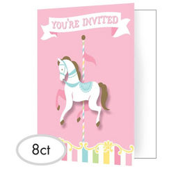 Carousel Party Invitation Kit for 8