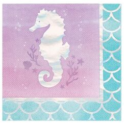 Small Mermaid Shine Napkins - pk16