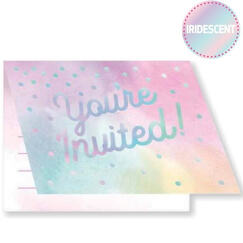 Iridescent Party Invitations for 8