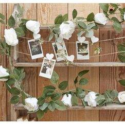 Rustic White Flowers Garland