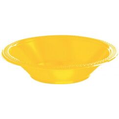 Yellow Plastic Bowls (355ml) - pk20