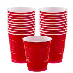 Apple Red Plastic Cups - pk20